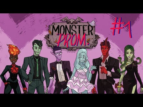 Let's Play: Monster Prom #1   The Multiplayer Dating Sim   Welcome To Spooky High!