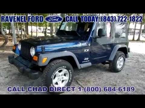 2005 jeep wrangler tj x 4x4 for sale charleston sc youtube. Black Bedroom Furniture Sets. Home Design Ideas