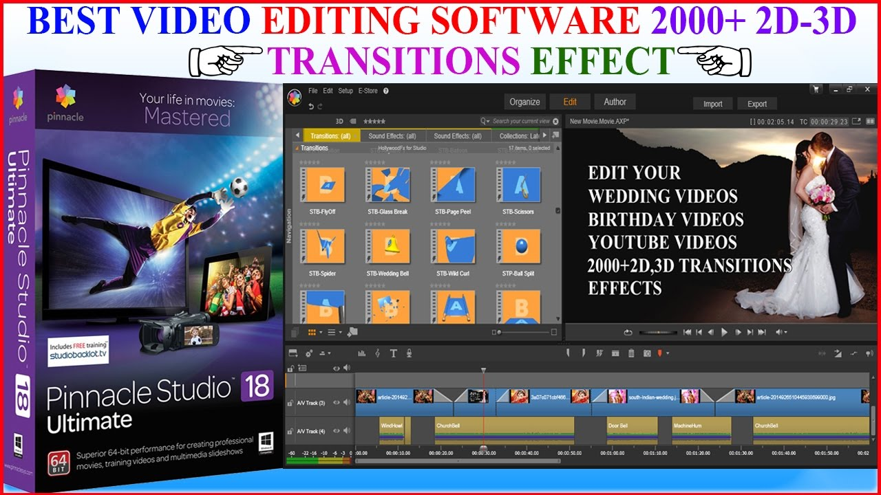 Pinnacle Studio Best Video Editing 2000 2d Effect