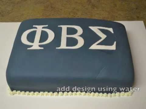 phi beta sigma cake youtube