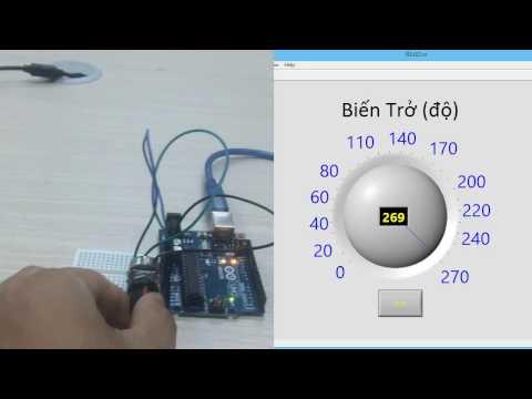 Đọc cảm biến Analog - Lập trình nhúng LabVIEW cho Arduino #13