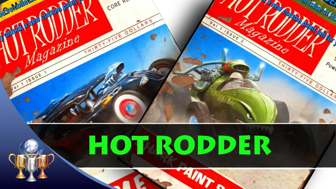 Fallout 4 Hot Rodder Comic Book Magazine Locations (3 Issues) Custom ...
