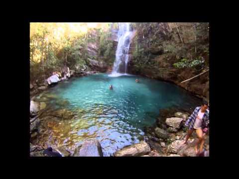 Cachoeira de Santa Bárbara - Cavalcante/GO. Chapada dos Veadeiros