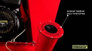 Broyeur de végétaux thermique - 13 CV - Couteaux / Marteaux - Tractable ELECTROPOWER