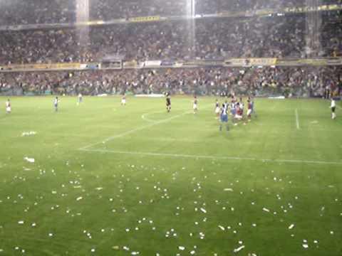 Boca soccer fans go crazy after scoring a goal