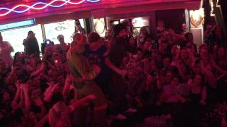 BSB Cruise Truth or Dare. AJ and Nick shaking their booties with Fan