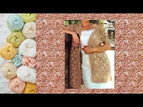 Узор крючком для жилета - Crochet Pattern For Vest