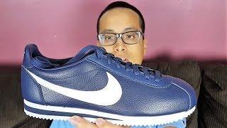 Nike Classic Cortez Leather Navy/White