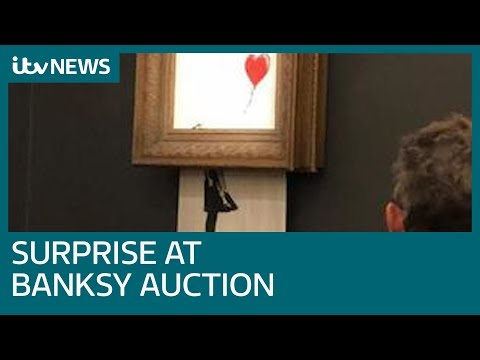 Banksy 'prank' sees £1 million artwork shredded | ITV News