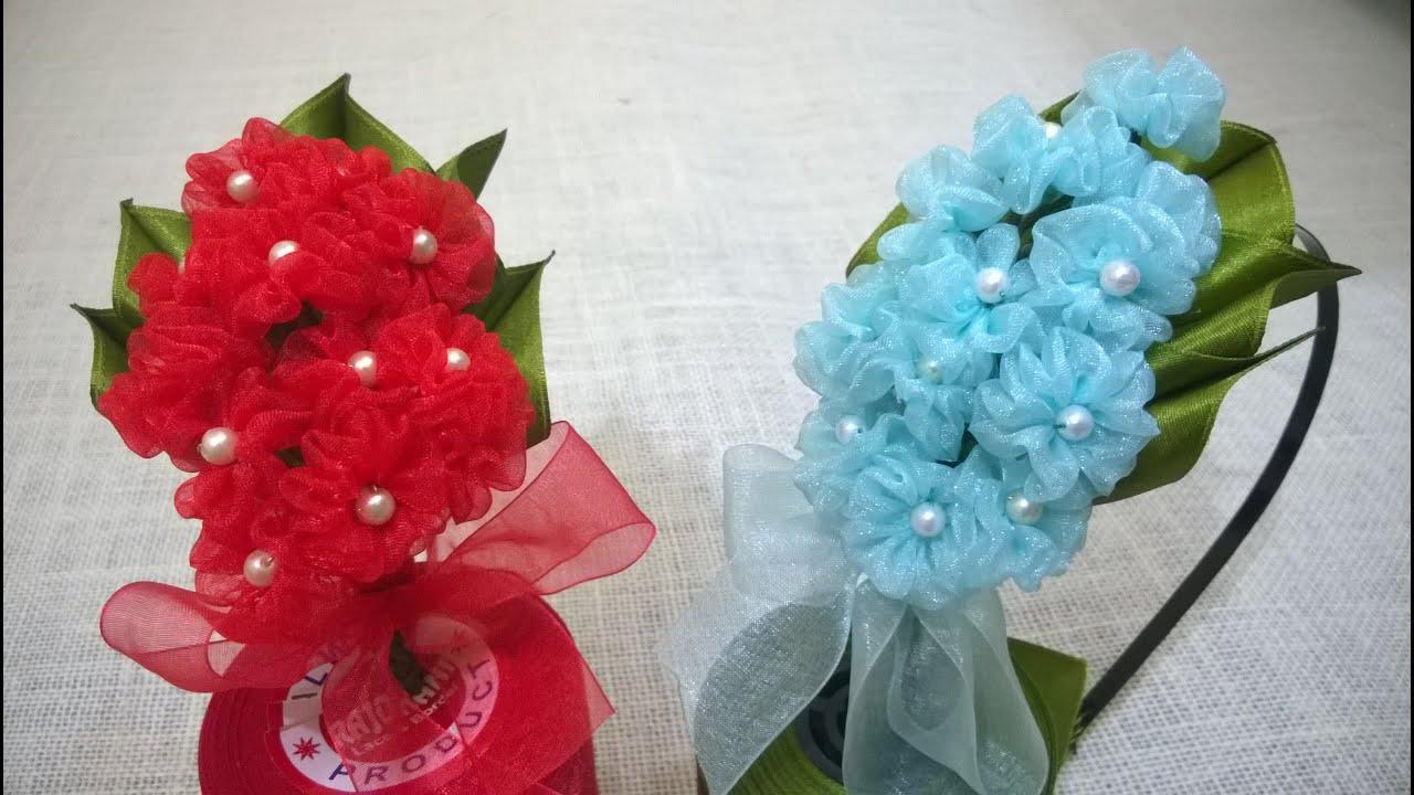 D I Y Organza Hydrangea Flower Headband Myindulzens