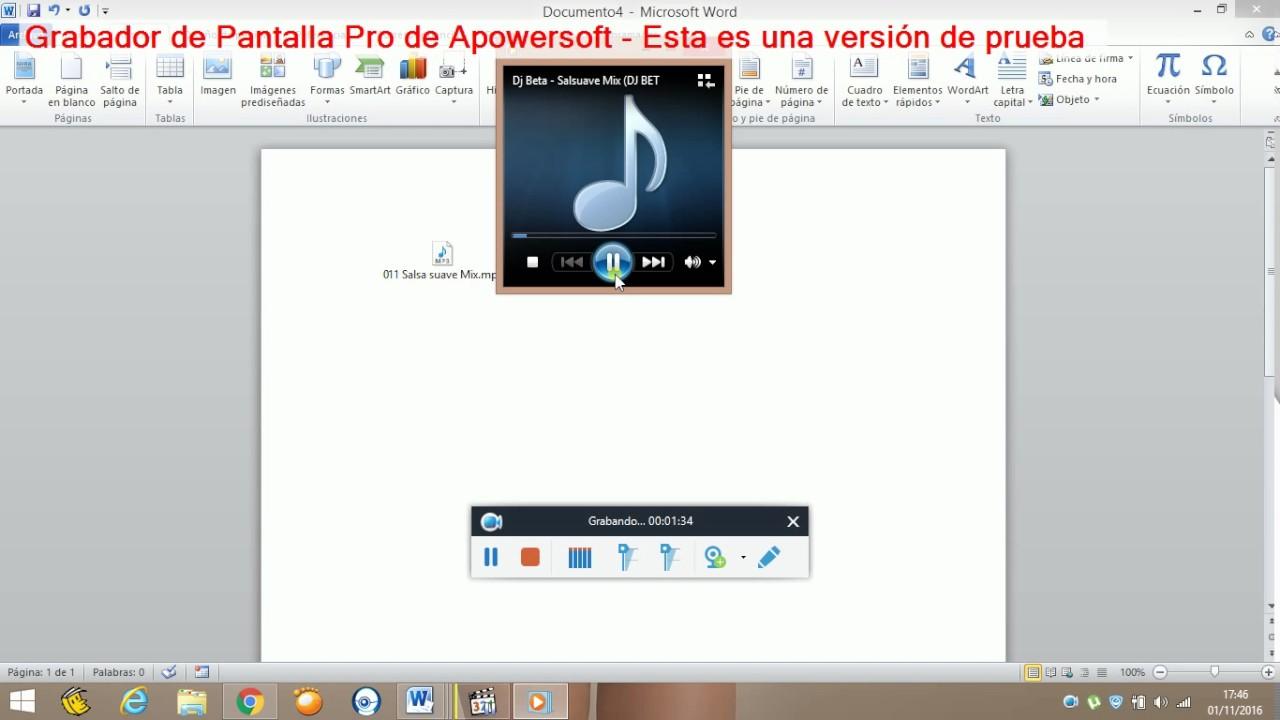 como poner audio en word - YouTube