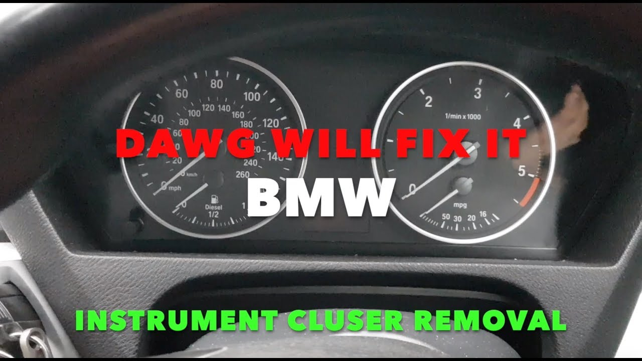 Bmw Instrument Cluster Removal Dashboard Removal Youtube