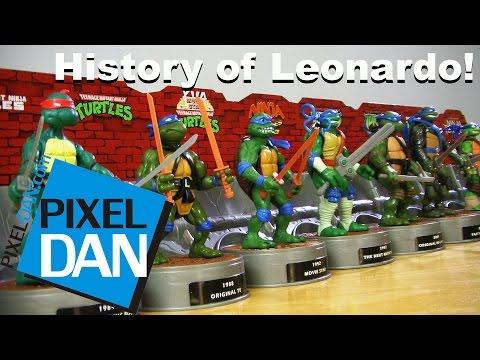 History of Leonardo Teenage Mutant Ninja Turtles Figure Box Set Video Review