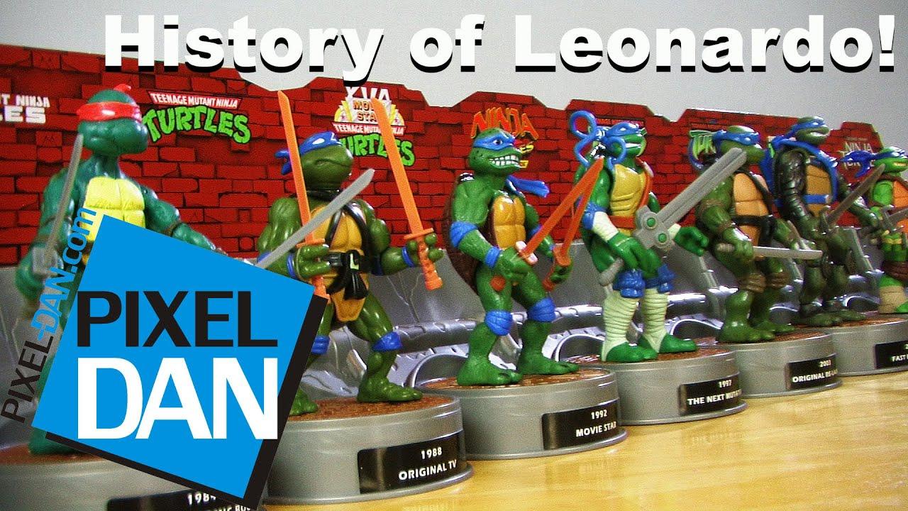 History Of Leonardo Teenage Mutant Ninja Turtles Figure Box Set