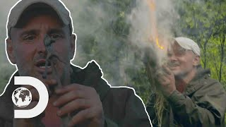 Ed Stafford Makes A Fire In The Rain | Ed Stafford: First Man Out