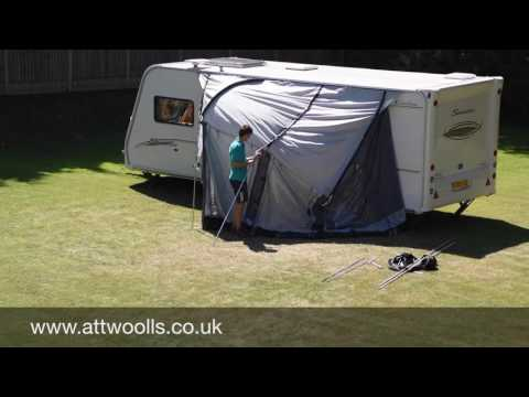 Kampa Rally Awning Pitching & Packing Video (Real Time)
