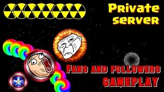 GAMEPLAY WITH FOLLOWERS AND FANS // Private Server - Nebulous (Agar.io)