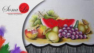Frutas em Tecido – Parte 2 por Sonalupinturas