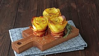Bacon Wrapped Potato Roses