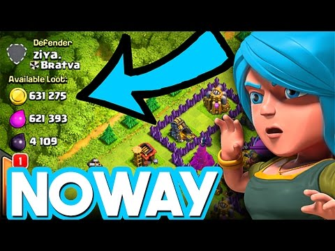 CRAZY LOOT - EASY & CHEAP ARMY - Clash of Clans TH 9 RAIDING