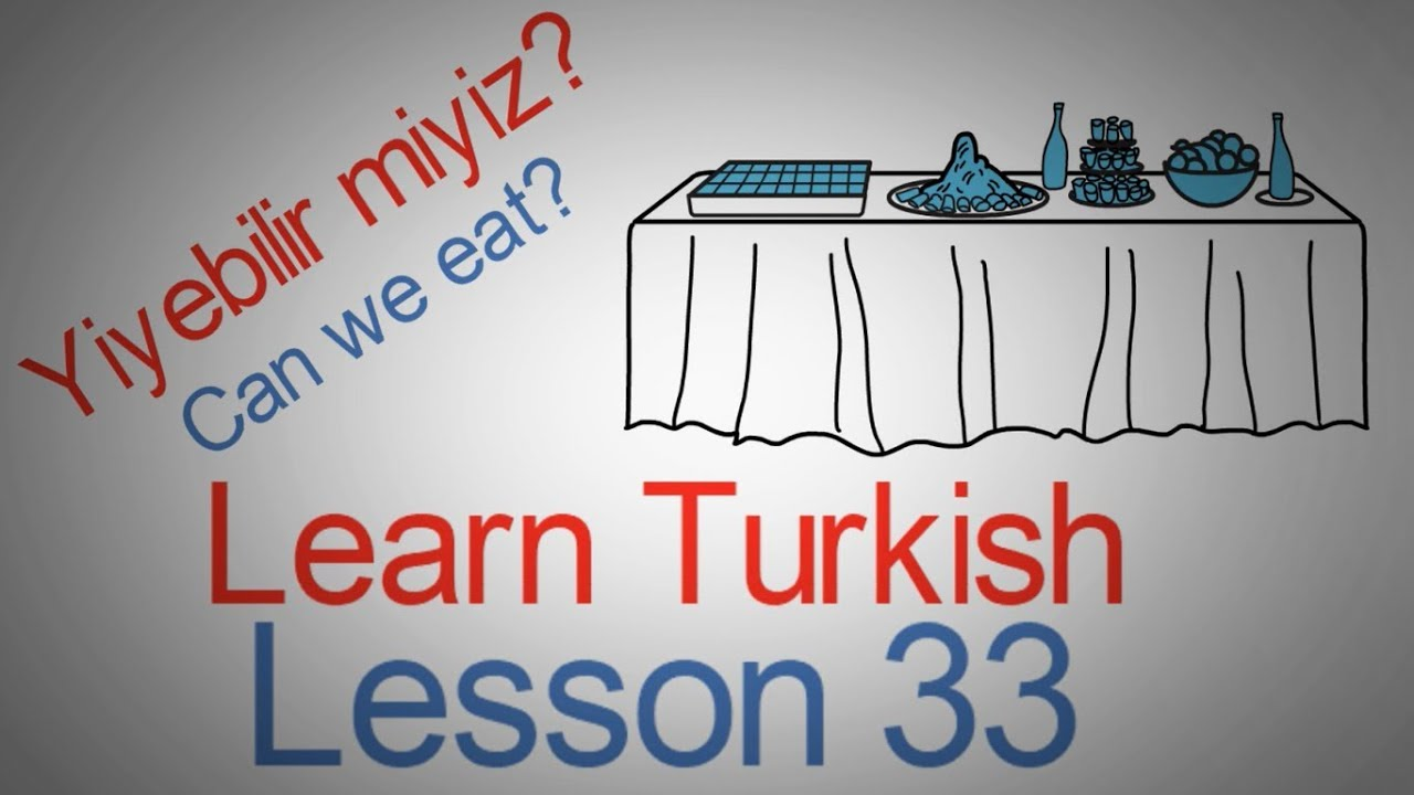 Learn Turkish Lesson 33 - Eating Phrases (Part 1)
