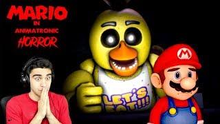 MARIO MEETS THE FNAF GANG! - Mario in Animatronic Horror (Demo)