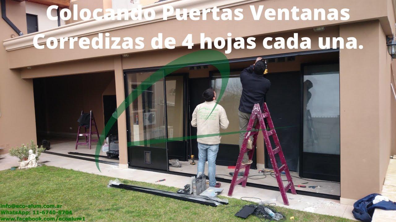 Como colocar puertas ventanas de aluminio m dena eco alum for Puerta ventana de aluminio corrediza