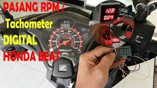 Cara Pasang RPM / Tachometer Digital di Honda Beat   Tutorial memasang RPM Digital