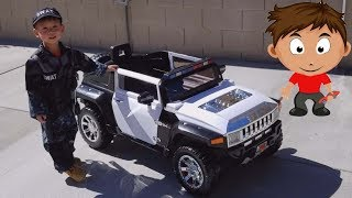 Unboxing & Assembling Hummer Police SUV Car 12 Volt Battery Powered Ride On
