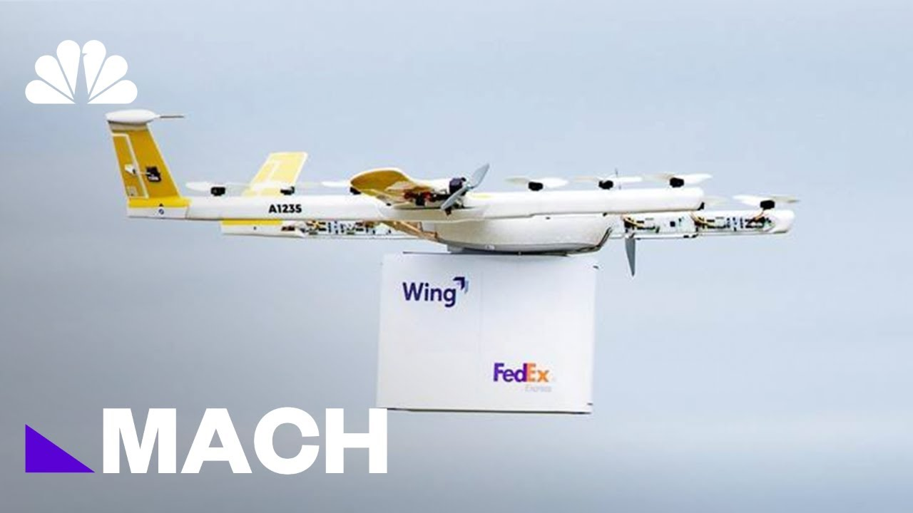 First Commercial Drone Home Delivery Service In U.S. Takes Flight | Mach | NBC News
