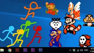 Animation vs Super Mario Bros official