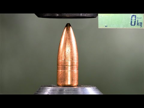 How Strong are Bullets? Hydraulic Press Test!