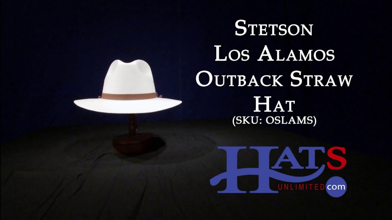 94412c9d241 Stetson - Los Alamos Outback Straw Hat - YouTube