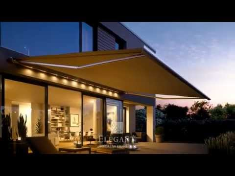 Elegant Awnings with Lights