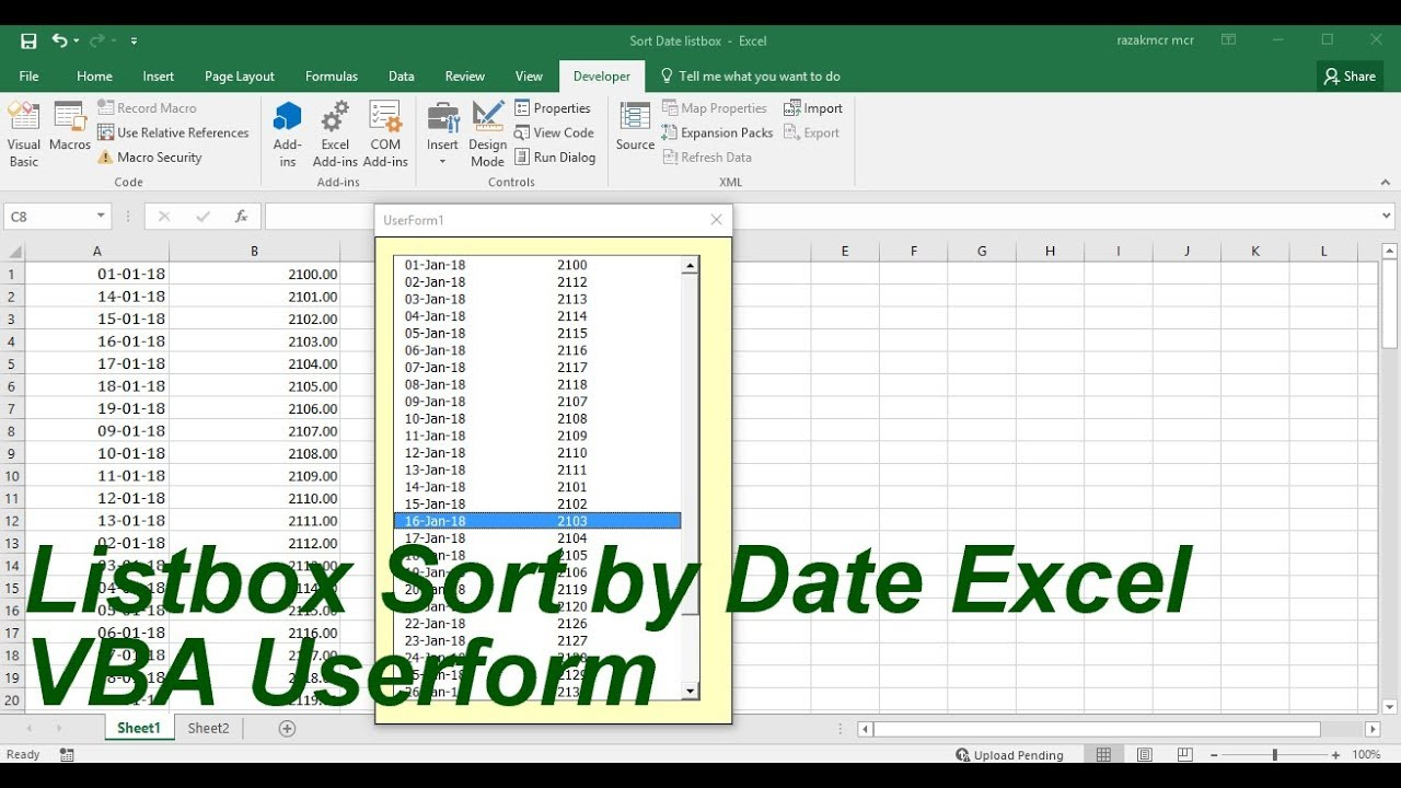Listbox sort by date excel vba youtube listbox sort by date excel vba ibookread Read Online