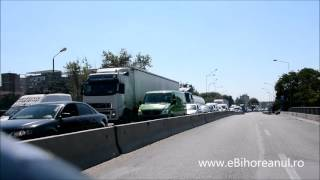 Greva transportatorilor rutieri a blocat centura Oradiei