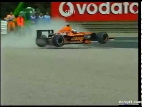 F1 Monza 2001 - Jos Verstappen Crash