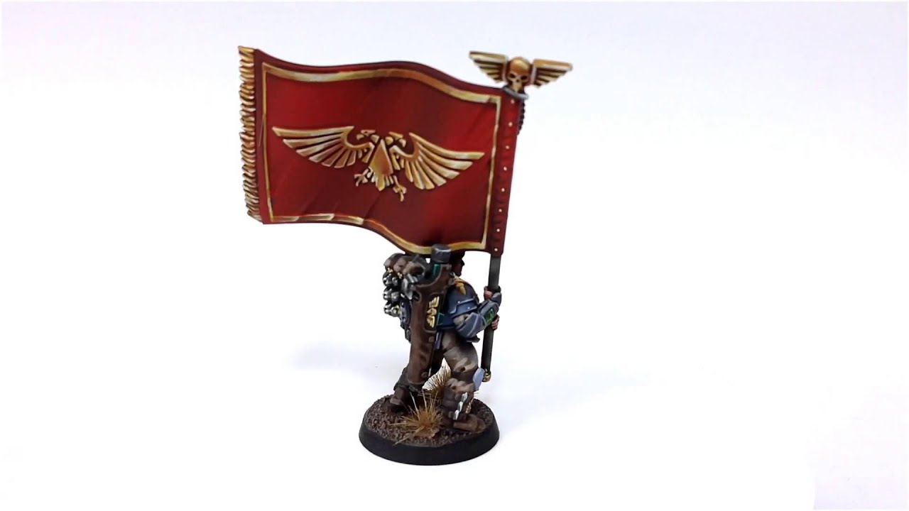 Militarum Tempestus Scion With Platoon Standard Youtube
