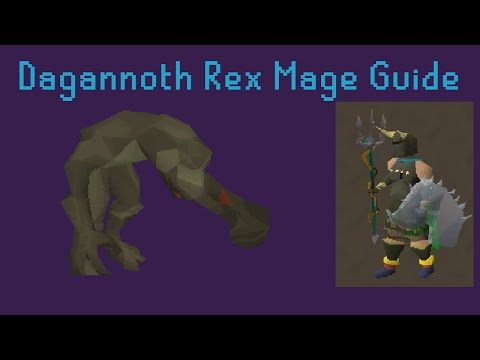 Dagannoth Rex Solo Mage Guide - Runescape 2007 - Commentary [HD]