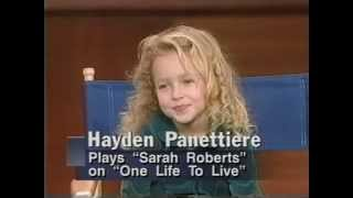 Hayden Panettiere interview 1995.  Age 6