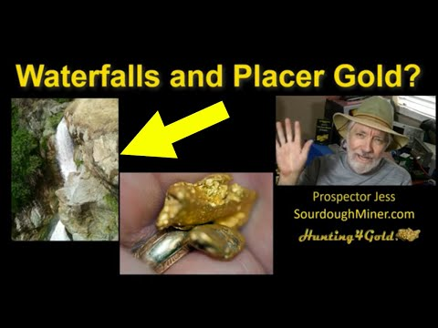Placer Gold Prospecting In Waterfalls