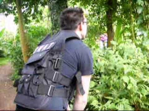 Drew Cunningham SWAT Team in botinic gardens