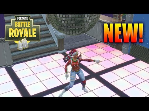 FORTNITE DANCE ON DIFFERENT DANCE FLOORS LOCATIONS!