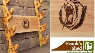 Wandhalterung für Waffen selber bauen | How To Build a Bow Rack | Samuraischwert | 🔥 Franks Shed 🔥