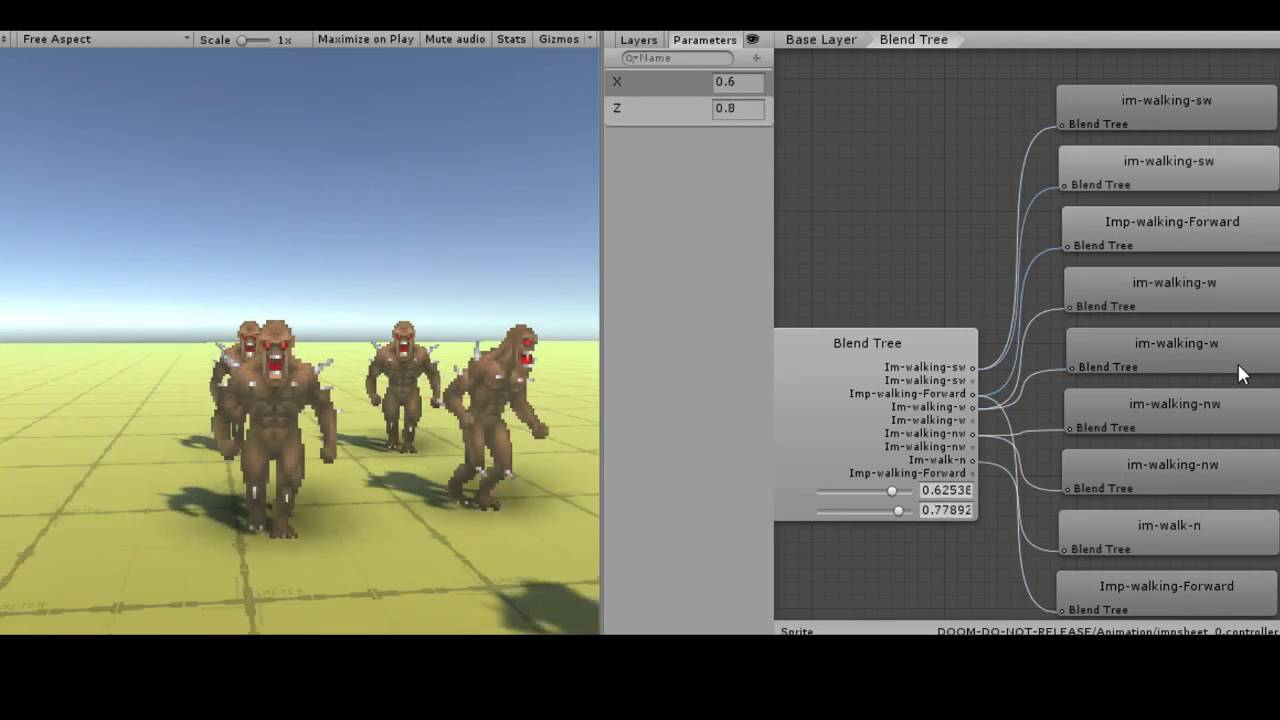 Doom like sprite rendering in Unity by Quan