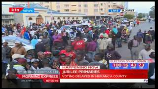 Supporters of various Aspirants face off in a chanting match during stalled Jubilee Party Primary(, 2017-04-21T05:30:48.000Z)