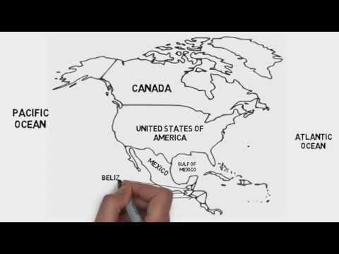 Map Of North America (Countries And Their Location)