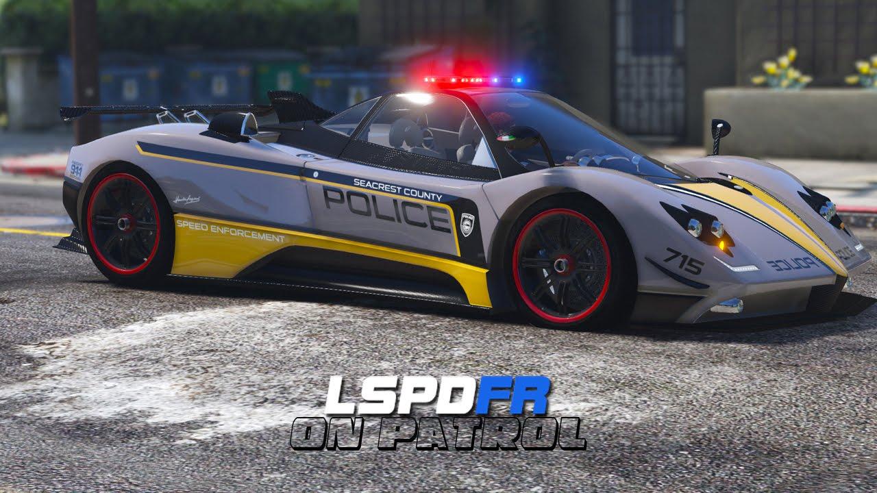 LSPDFR - Day 319 - Police Pagani Zonda - YouTube