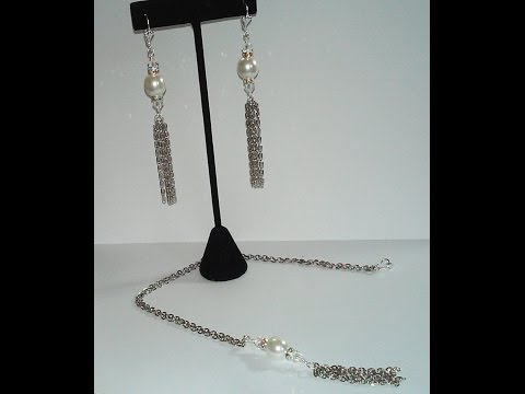 Jewelry Making Made Easy, Economic Bridal Series #3 - Pearl Or Rhinestone Drop Set