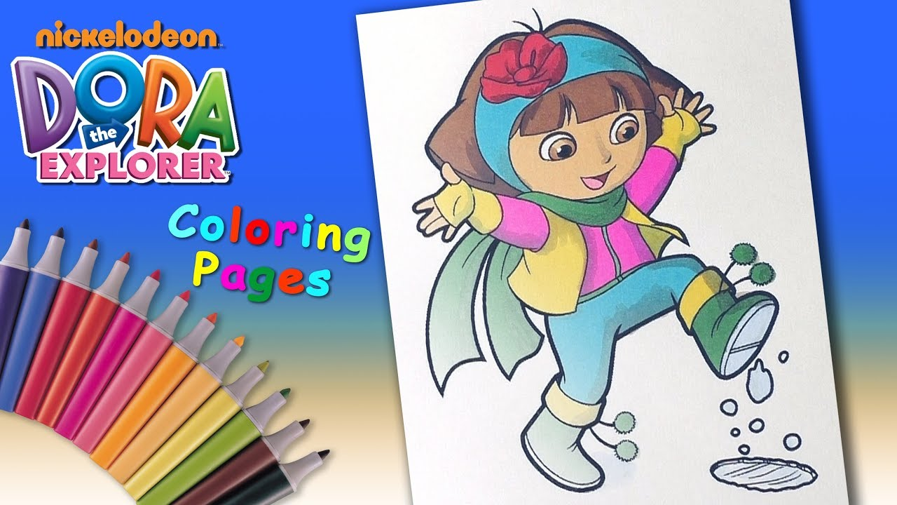 Dora in winter Coloring Pages #ForKids #LearnColors and Draw with  #DoraTheExplorer